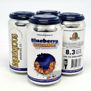 Ingenious: Blueberry Crumble 4 Pack Cans