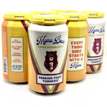 Mama Bear: Passion Fruit Tumeric Hard Kombucha 6 Pack
