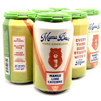 Mama Bear: Mango Lime Cayyenne Hard Kombucha 6 Pack