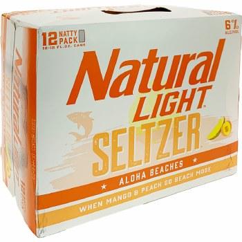 Natural Light: Aloha Peaches 12 Pack