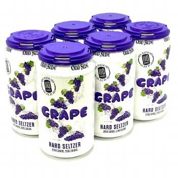Oddside: Grape Seltzer 6 Pack Cans