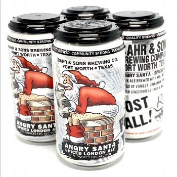Rahr & Sons: Angry Santa Spiced London ale 4 Pack
