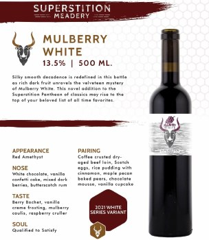 Superstition: Mulberry White 500ml Bottle