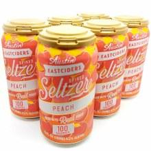Austin Eastcider: Seltzer Peach 6 Pack