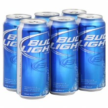 Bud Light: 6 Pack (16oz Cans)