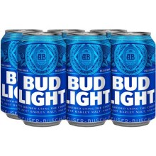Bud Light: 6 Pack (Cans)
