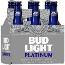 Bud Light: Platinum 6 Pack (Bottles)