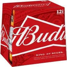 Budweiser: 12 Pack (Bottles)