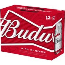 Budweiser: 12 Pack (Cans)