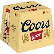 Coors: Banquet 9 Pack (16oz Aluminum Bottles)