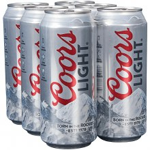 Coors: Light 6 Pack (16oz Cans)