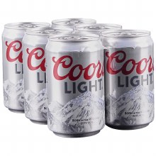 Coors: Light 6 Pack (Cans)