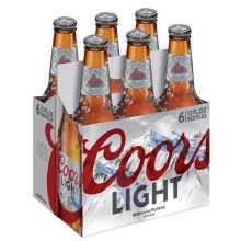 Coors: Light 6 Pack (Bottles)