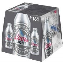 Coors: Light 9 Pack (16oz Aluminum Bottles)