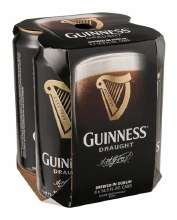 Guinness: Draught (4 Pack 16oz Cans)