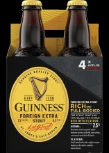 Guinness: Foreign Extra Stout (4 Pack Bottles)