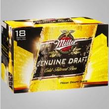 Miller Genuine Draft: 18 Pack (Bottles)