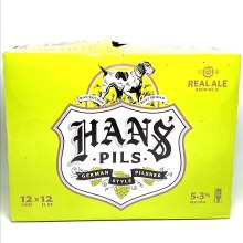 Real Ale: Hans Pils 12 pack Cans