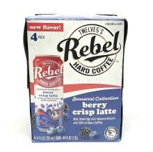Twelve5: Rebel Hard Coffee Berry Crisp Latte 4 Pack Cans
