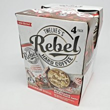Twelve5: Rebel Hard Coffee Peppermint Mocha Latte 4 Pack Cans