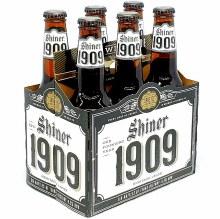 Shiner: 1909 Heritage Lager 6 Pack Bottles