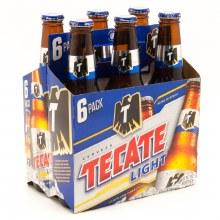 Tecate: Light 6 Pack (Bottles)