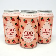 Untitled Art: CBD Sparkling Water Strawberry 12oz Can
