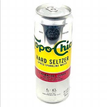 Topo Chico: Hard Seltzer Strawberry Guava 24oz Can