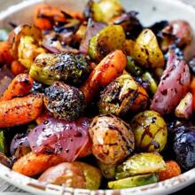 Roasted Mixed Balsamic Vegetables