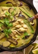 Vegetable Thai Green Curry & Rice (vegan, g, d, n)