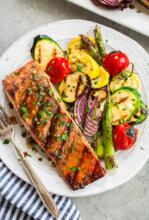 Grilled Salmon with Vegatables