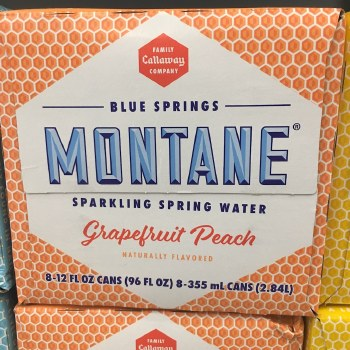 Grapefruit Peach Sparkling Water 8pack