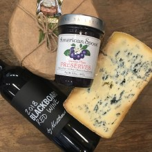 Featured Pairing: Glacier Blue, Blackboard Red, and Plum Preserves