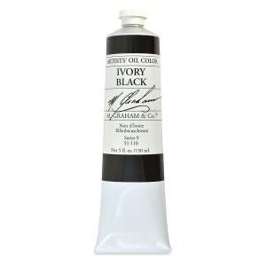 M. Graham Oil, Ivory Black, 150ml