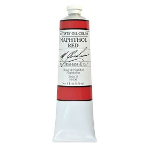 M. Graham Oil, Napthol Red, 150ml