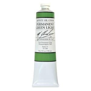 M. Graham Oil, Permanent Green Lt., 150ml