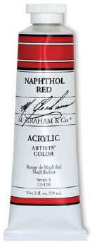 M. Graham Acrylic Napthol Red 150ml