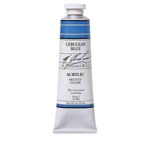 M. Graham Acrylic Cerulean Blue 150ml