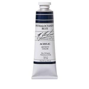 M. Graham Acrylic Phthalo Blue 150ml