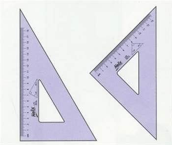Academic Triangle Set, Two Triangles - a 6 in. 45 & an 8 in. 60