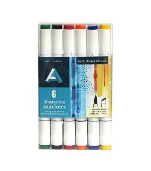 Illustration Marker Sets, 6-Marker Set - Primary Colors
