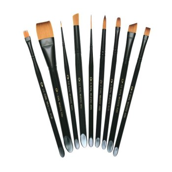 Majestic Long Handle Brushes, Brights, 8