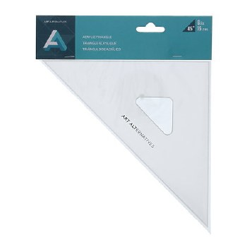 Acrylic Triangles, 8 in. - 45 - with Inking Edges
