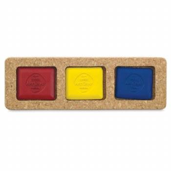 ArtGraf Tailor Shape Pigment Discs Sets, 3-Color Primary Colors Set