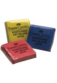 Kneaded Erasers, Assorted Colors - Blue/Red/Yellow