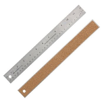 Flexible Stainless Steel Rulers, 12 in. - Cork Backed