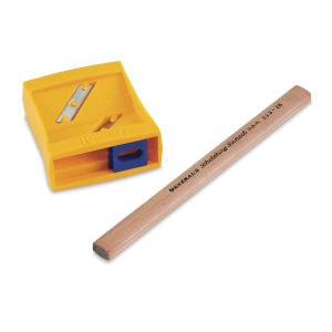 Flat Pencil Sharpener & Sketch Pencil, - Peggable