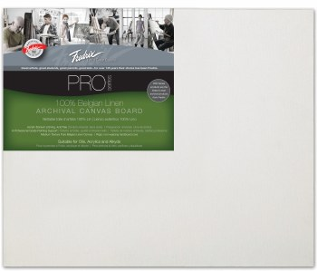 Fredrix Pro Belgian Linen Canvas Panel, 12x16
