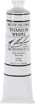 M. Graham Oil, Titanium White, 150ml