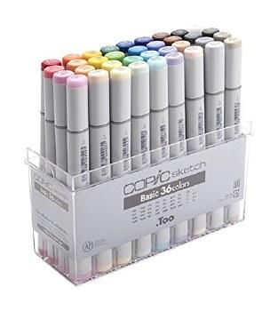 COPIC Sketch Marker Sets, 36-Color Set